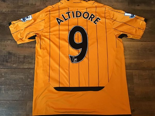2009 2010 Hull City Altidore Player Issue Home Football Shirt Large